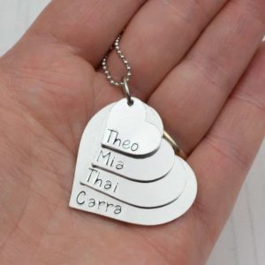 Stamped With Love - Stacking Heart Necklace