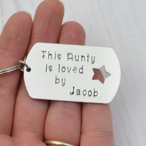 Stamped With Love - Aunty is Loved By keyring