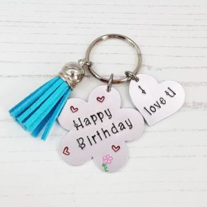 Stamped With Love - Birthday Flower Keyring