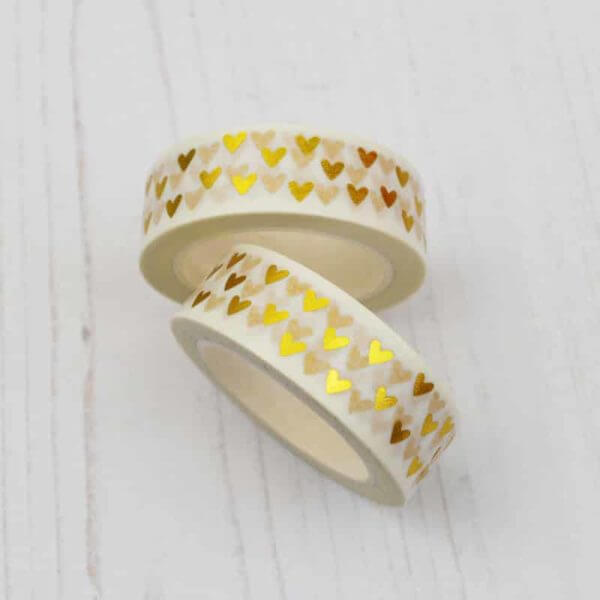Stamped With Love - Gold Heart Washi Tape