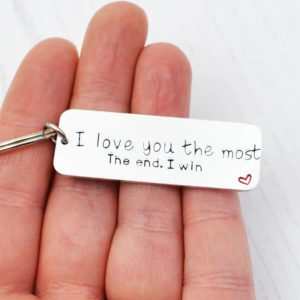 Stamped With Love - I love you the most keyring
