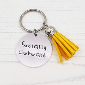 Stamped With Love - Mini Motivation - Socially Awkward Keyring