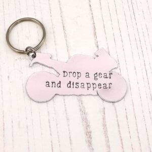 Stamped With Love - Drop a Gear Motorbike Keyring