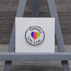 Stamped With Love Pin Badge