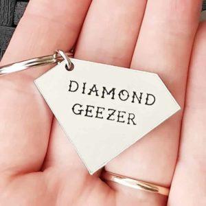 Stamped With Love - Diamond Geezer Keyring