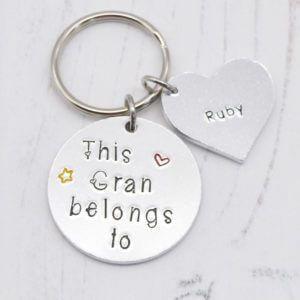Stamped With Love - This Gran belongs to Keyring