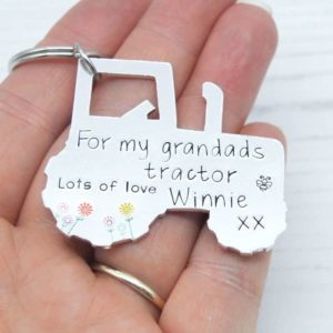 Stamped With Love - Grandad's Tractor Keyring
