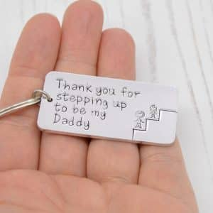 Stamped With Love - Stepping Up to be my Dad Keyring