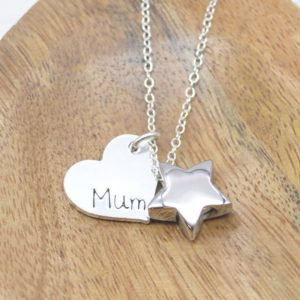 Stamped With Love - Memorial Star with Personalised Heart