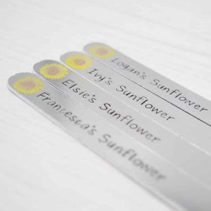 Stamped With Love - Personalised Sunflower Marker