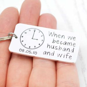 Stamped With Love - When we became husband and wife Keyring