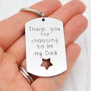 Stamped With Love - Choosing to be my Dad Keyring