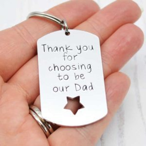 Stamped With Love - Choosing to be our Dad Keyring
