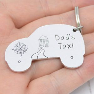 Stamped With Love - Dad's Taxi Keyring