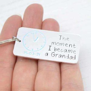 Stamped With Love - Moment I became a Grandad Keyring