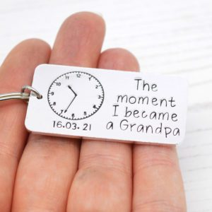 Stamped With Love - Moment I became a Grandpa Keyring