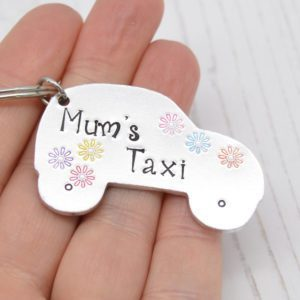 Stamped With Love - Mum's Taxi Keyring
