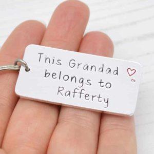 Stamped With Love - This Grandad belongs to Personalised Keyring