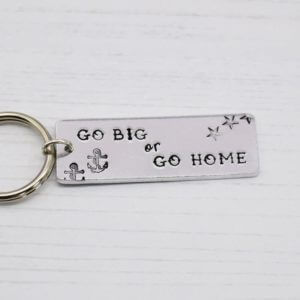 Stamped With Love - Go Big or Go Home Tattoo Keyring