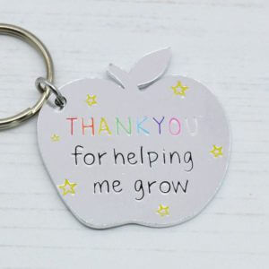 Stamped With Love - Helping me Grow Apple Keyring