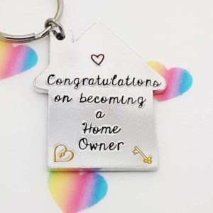 Stamped With Love - Congratulations on becoming a Home Owner Keyring