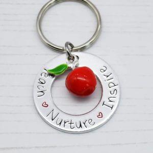 Stamped With Love - Teach Nurture Inspire Keyring