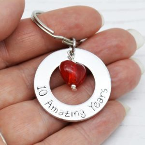 Stamped With Love - 10 Amazing Years Anniversary Keyring