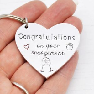 Stamped With Love - Congratulations on Your Engagement Keyring