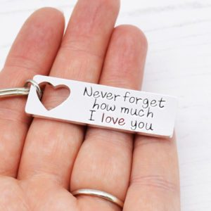 Stamped With Love - Never forget how much I love you keyring