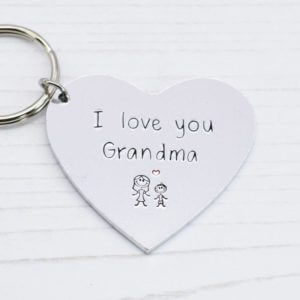 Stamped With Love - I love you Grandma Keyring