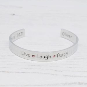 Stamped With Love - Live Laugh Teach Bracelet
