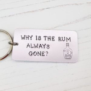 Stamped With Love - Why is the Rum always Gone? Keyring