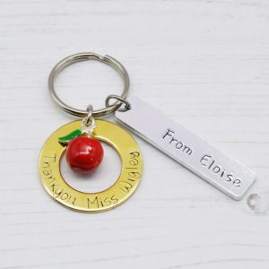 Stamped With Love - Thankyou Teacher Keyring Brass