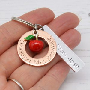 Stamped With Love - Thankyou Teacher Copper Keyring
