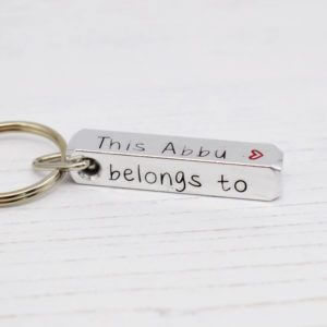 Stamped With Love - This Abbu belongs to Bar Keyring