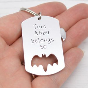 Stamped With Love - This Abbu belongs to Bat Keyring