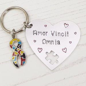 Stamped With Love - Amor Vincit Omnia Keyring