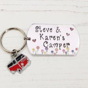 Stamped With Love - Personalised Campervan Keyring