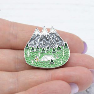 Stamped With Love - Camping Enamel Pin