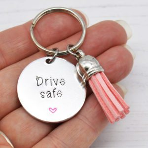 Stamped With Love - Mini Motivation - Drive Safe Keyring