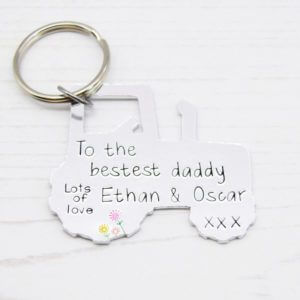 Stamped With Love - Bestest Daddy Tractor Keyring