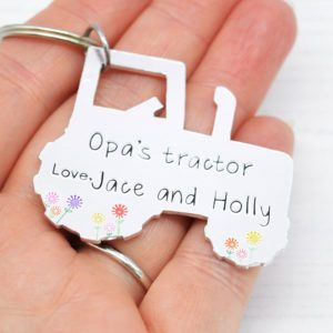 Stamped With Love - Opa's Tractor Keyring
