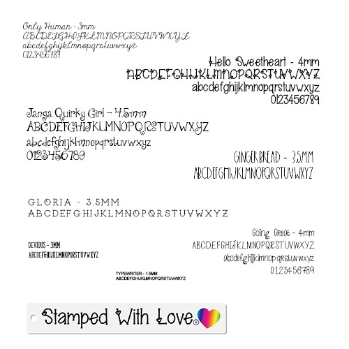 Stamped With Love Font Choices